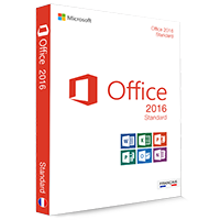 Microsoft Office 2016 Standard 32/64 Bit (Home & Business) - (clé de produit)